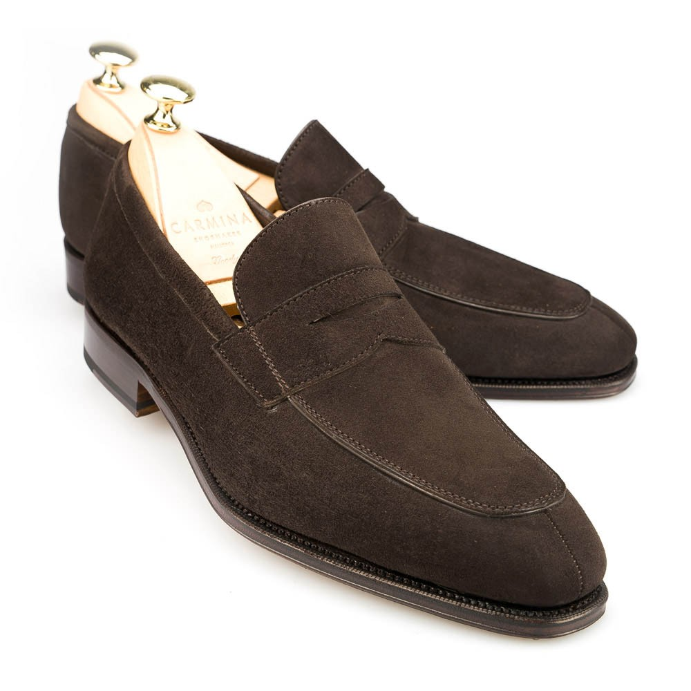 2e8ff7ee3ab PENNY LOAFERS 10082 SIMPSON. PENNY LOAFERS IN BROWN SUEDE