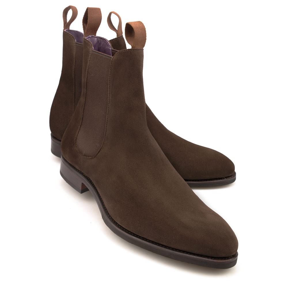 Mens Brown Suede Chelsea Boots Carmina
