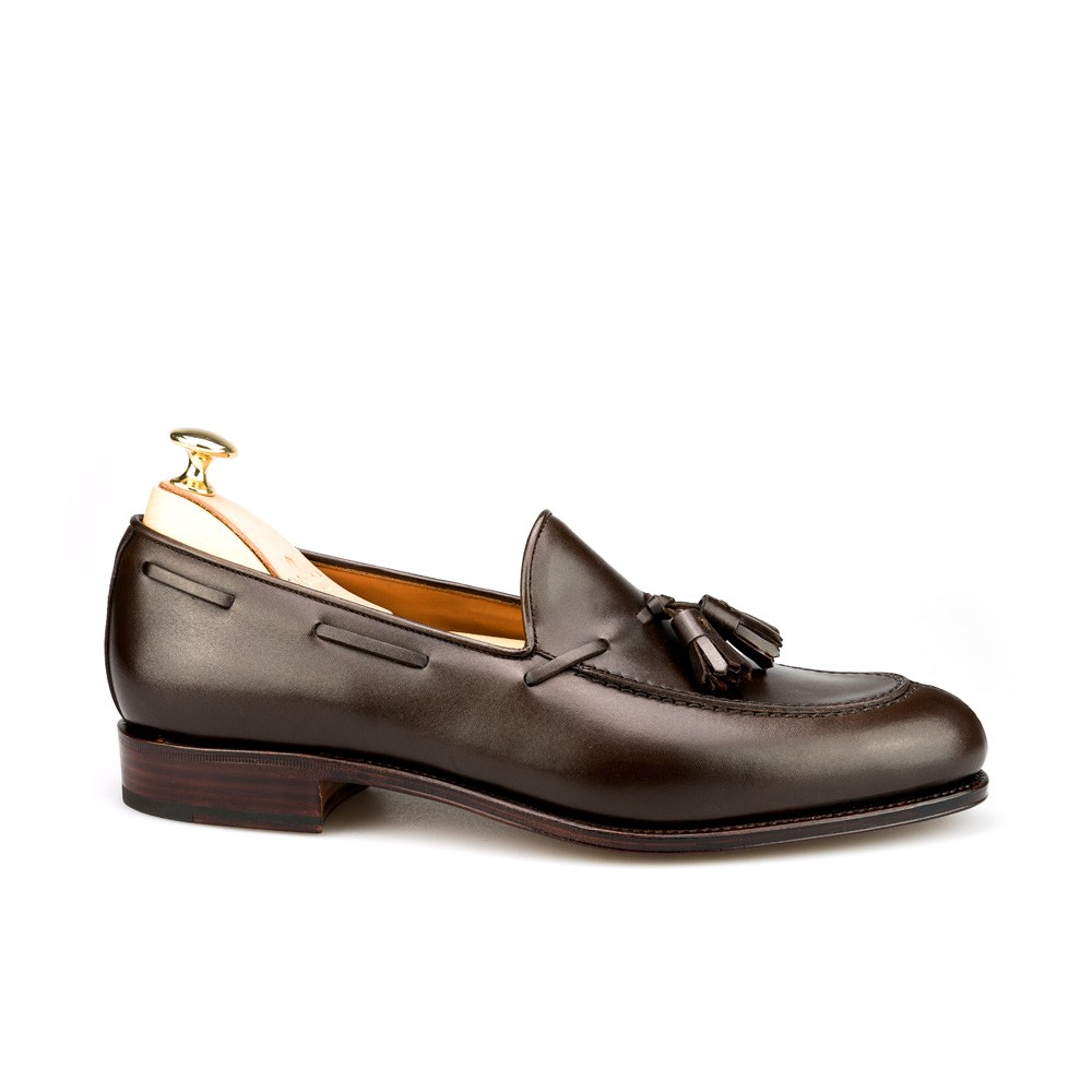 Tassel loafers in brown calf