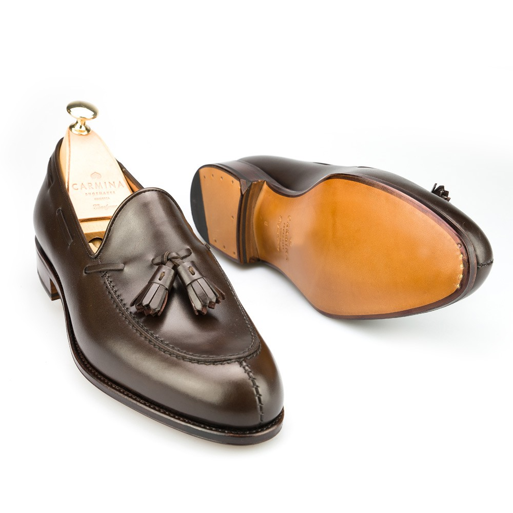a291693994 Tassel Brown Calf Dress Loafers | CARMINA Shoemaker