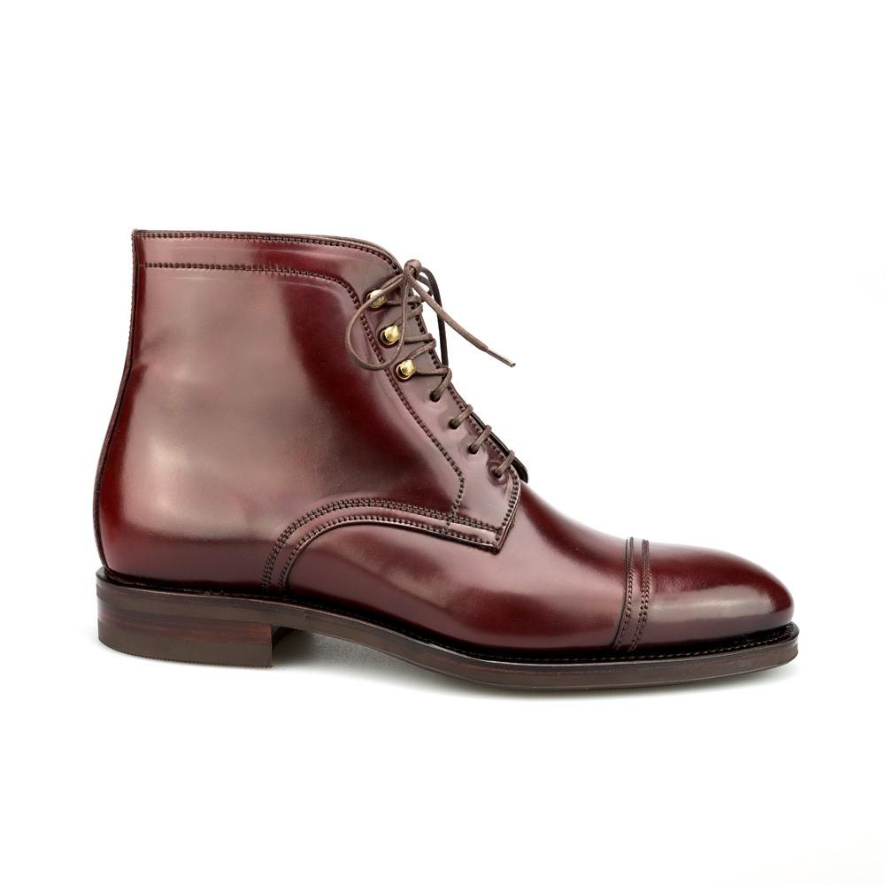 Mens Burgundy Cordovan Chelsea Boots Carmina