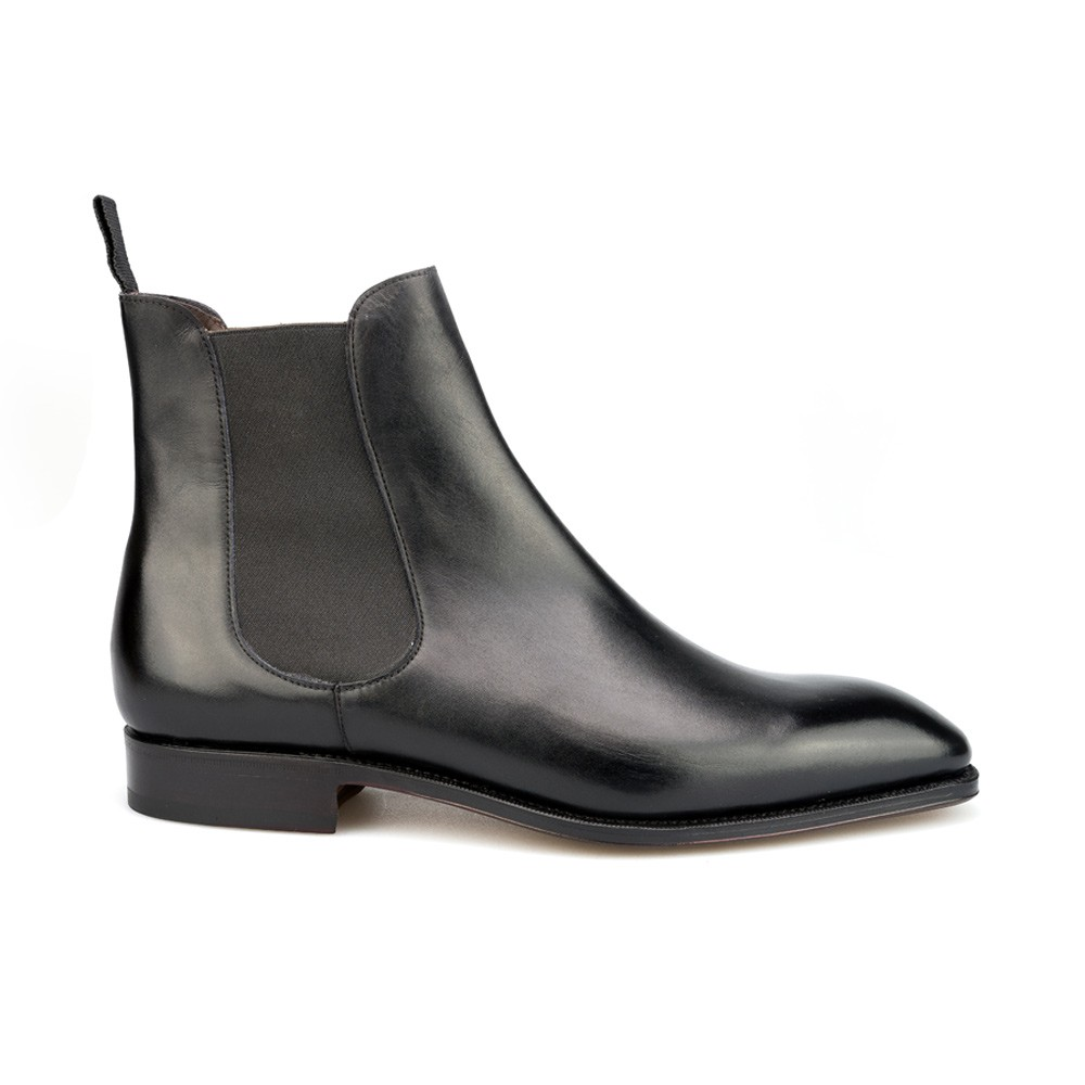 CHELSEA BOOTS IN BOX CALF BLACK CARMINA