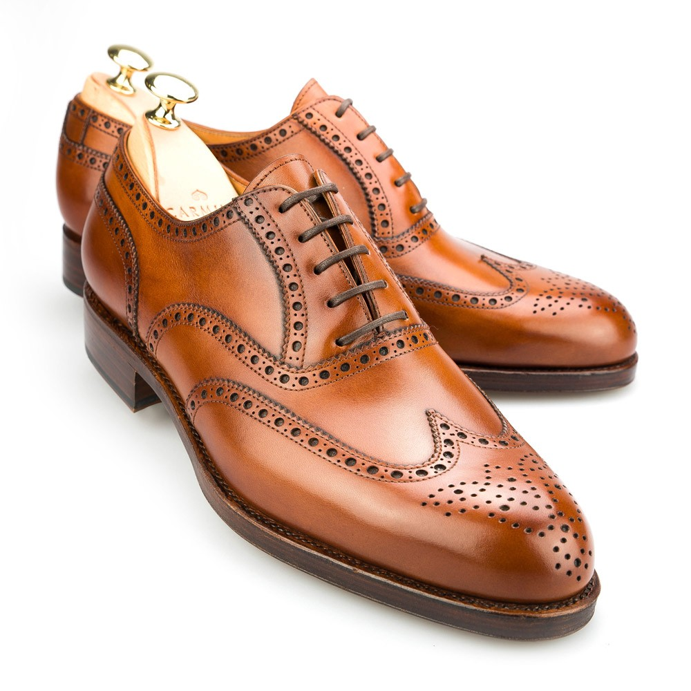 Image result for cognac wingtip shoes