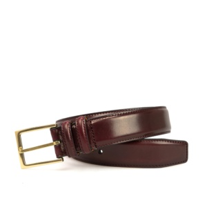 BURGUNDY CORDOVAN BELT