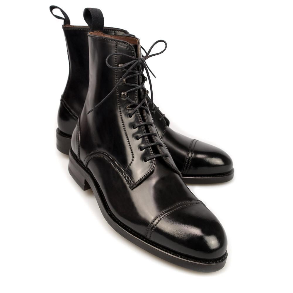 Mens Black Cordovan Chelsea Boots Carmina