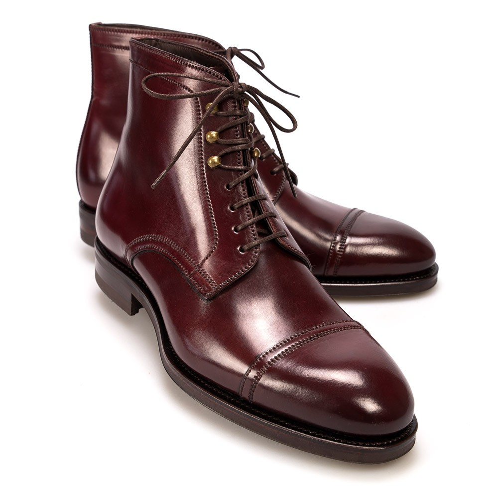 Burgundy Cordovan Leather Jumper Boot Carmina Shoemaker QKUqrh19
