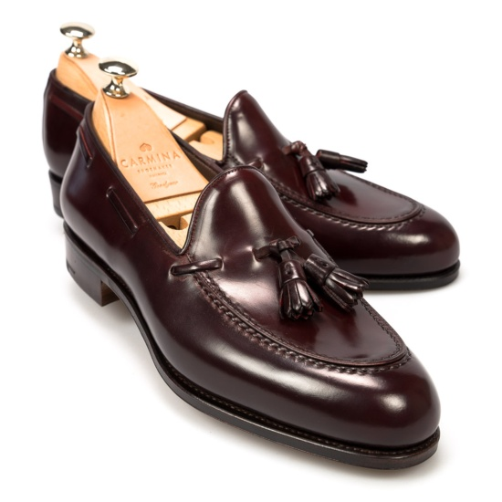 Women Burgandy Loafer Shoes