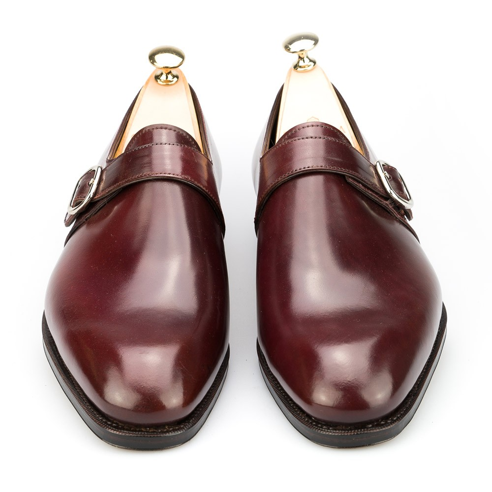cordovan monk strap shoes