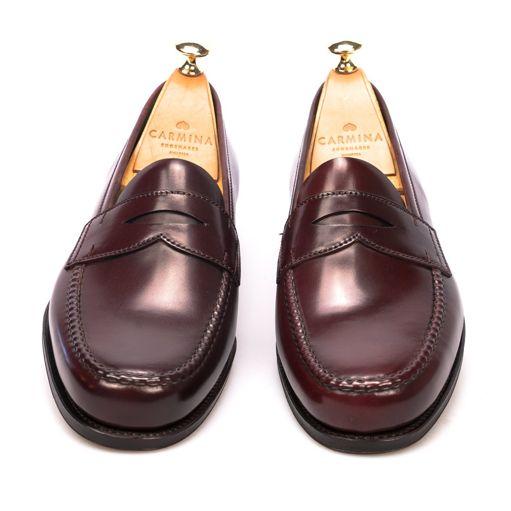 Burgundy Cordovan Dress Loafers | CARMINA Shoemaker