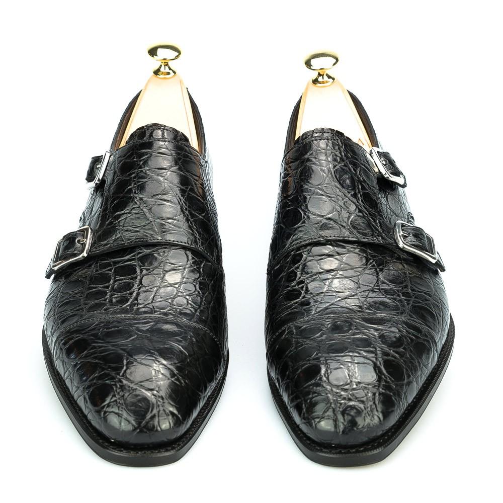 zapato de hebilla de cocodrilo