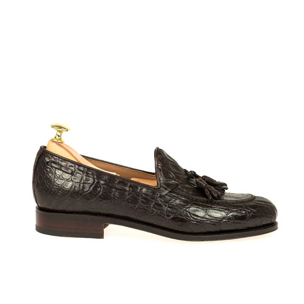 CROCODILE TASSEL LOAFERS 734 FOREST