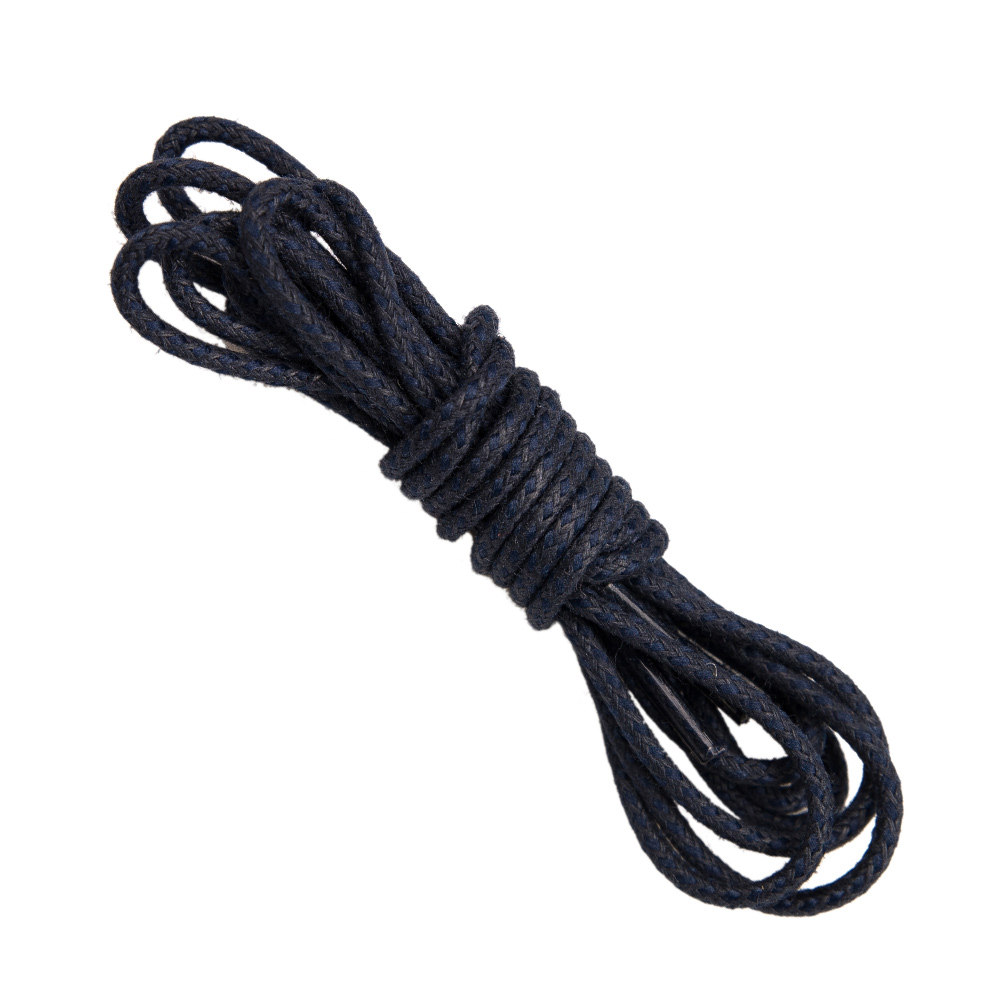 Navy Round braided shoe laces