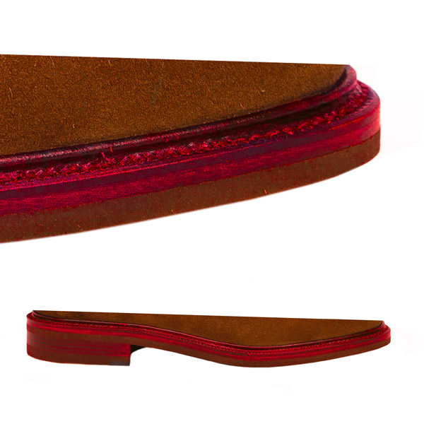 Doble suela y Vira con Bordón && Suela en rojo