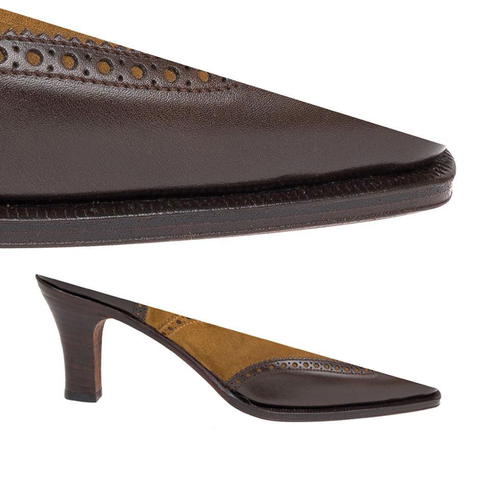 Single Sole Heel && brown Edge