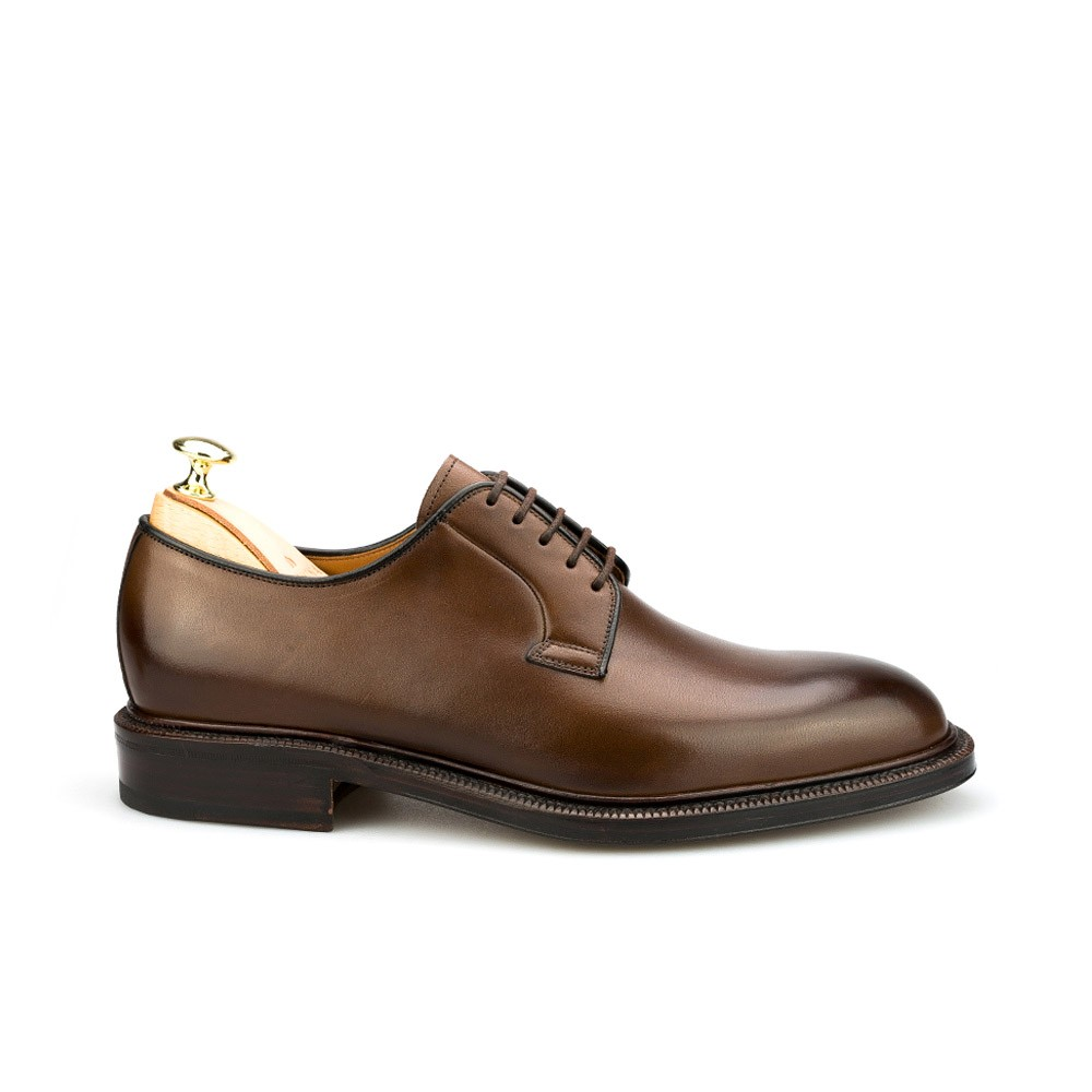 DERBY SHOES IN BROWN CARMINA 531 PLAIN TOE