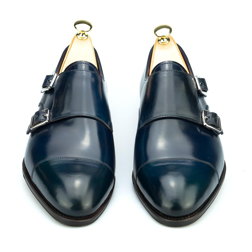 zapatos de doble hebilla de hombre