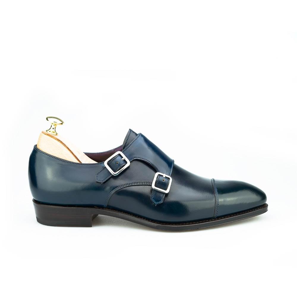 zapatos doble hebilla en cordovan