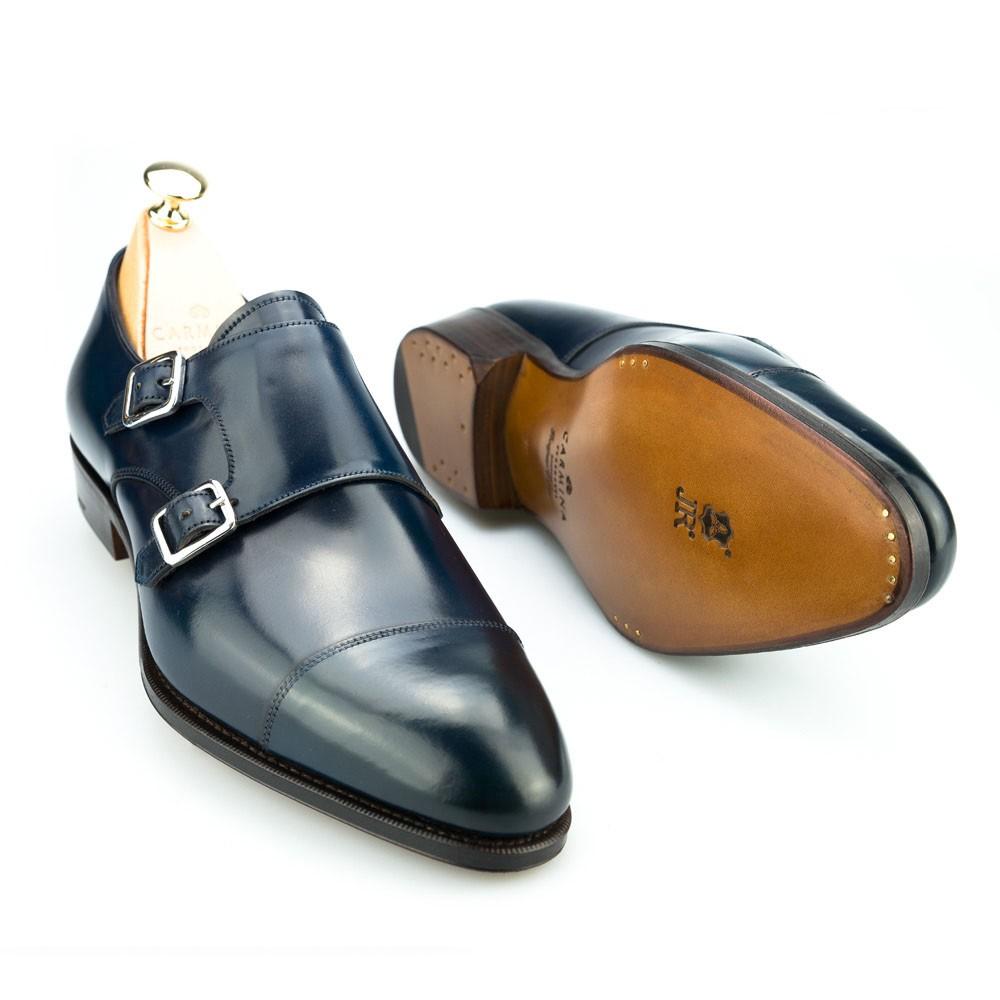 zapatos de cordovan marino