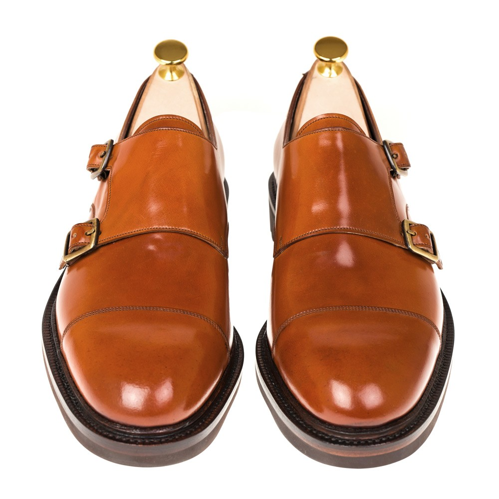 CORDOVAN DOUBLE MONK STRAPS 10003 OSCAR (INCL. SHOE TREE)
