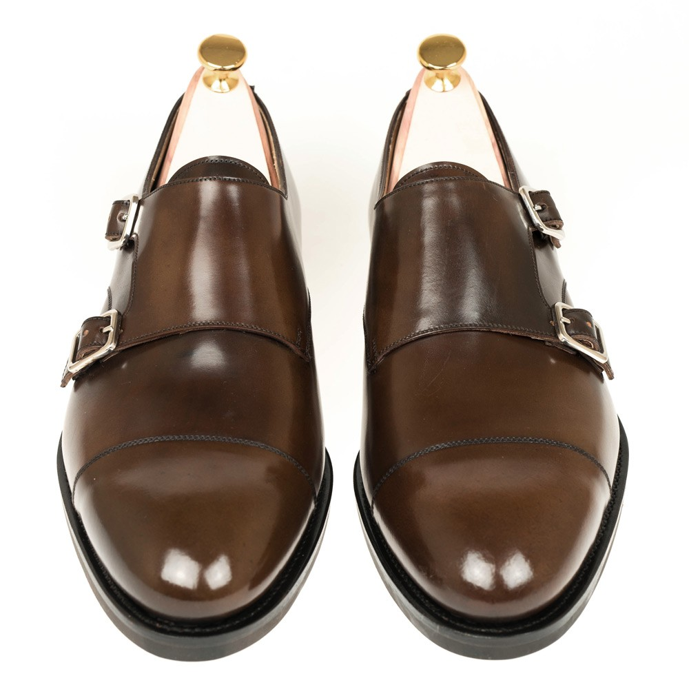 CORDOVAN DOUBLE MONK STRAP SHOES 10003 SOLLER ( Incl. shoe tree)