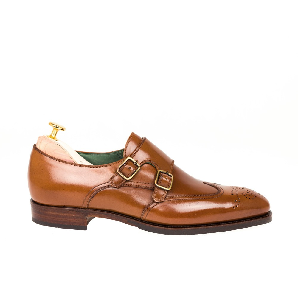 CORDOVAN WINGTIP DOUBLE MONK STRAP 80114 RAIN ( INCL. Shoe tree)