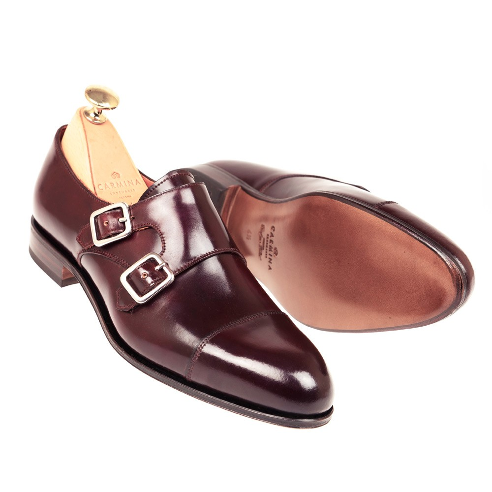 CORDOVAN WOMEN DOUBLE MONK STRAP 1645