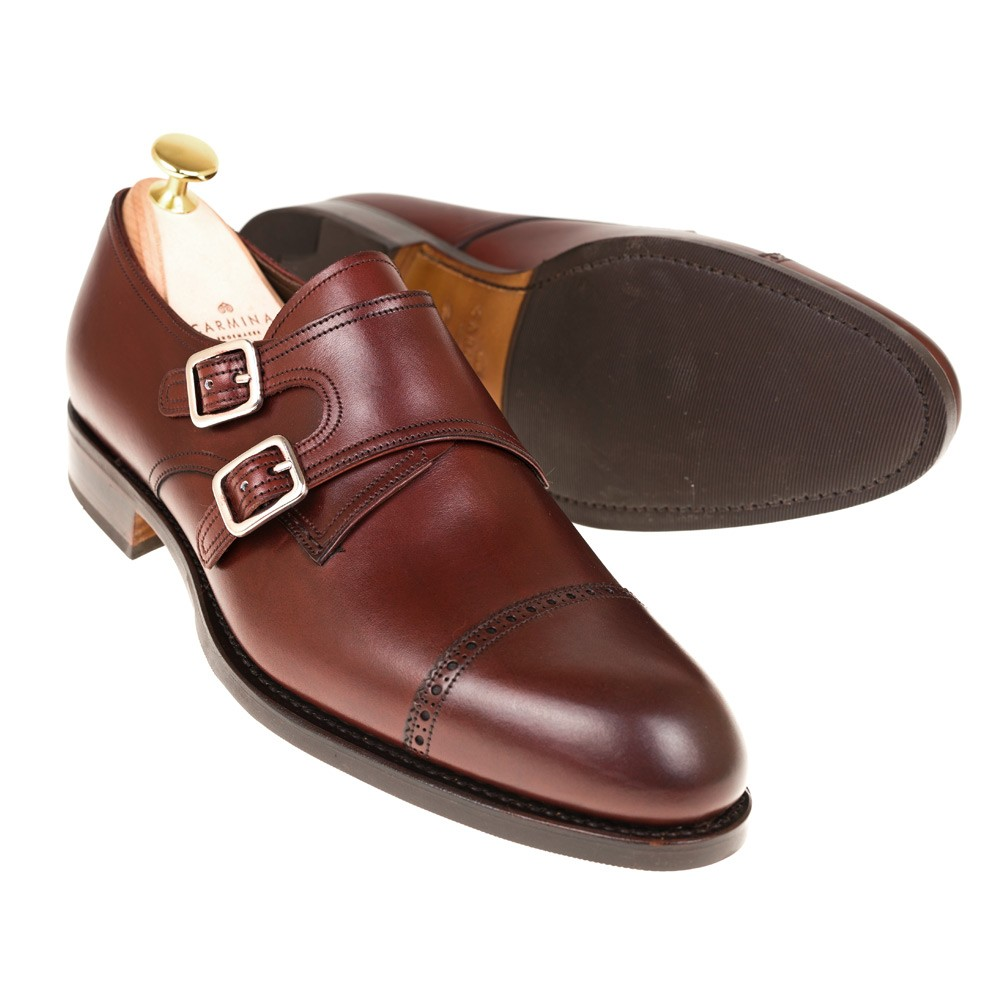 SEMI BROGUE DOUBLE MONK STRAP 80476 ROBERT