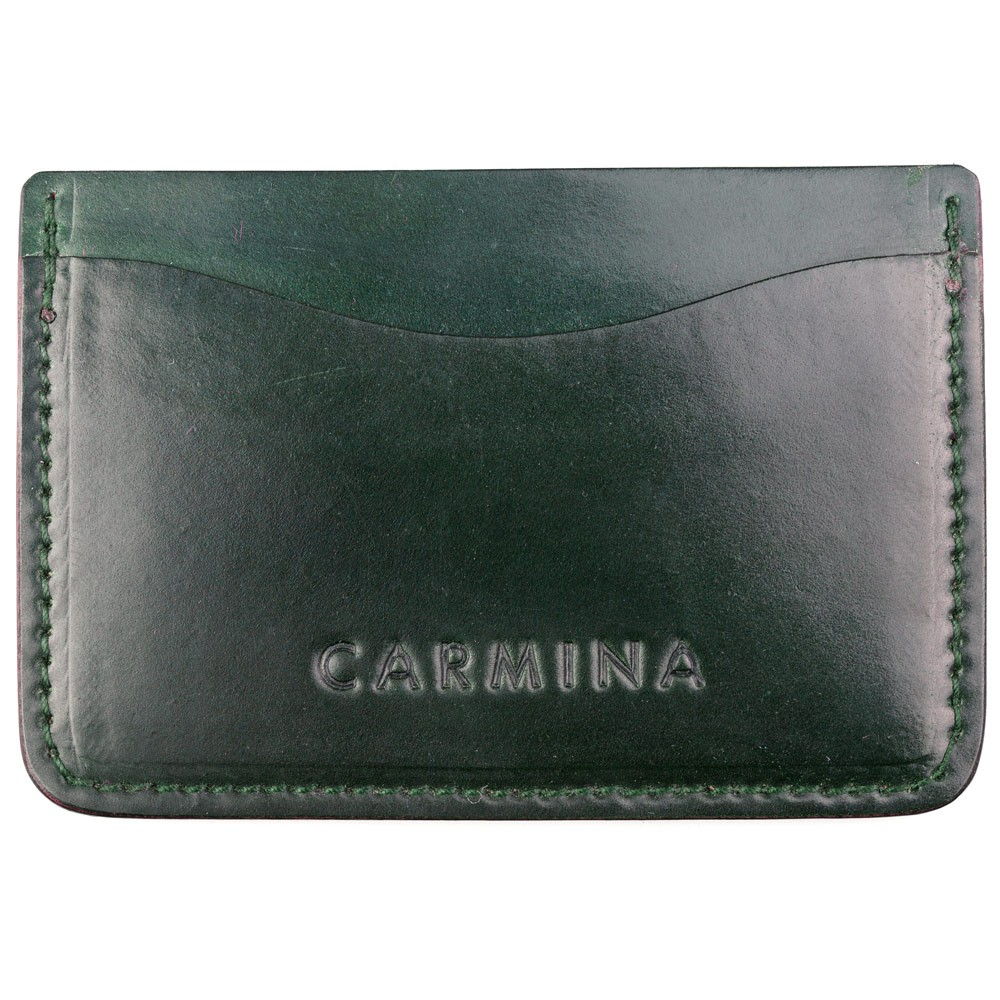CORDOVAN CARD HOLDER IN GREEN