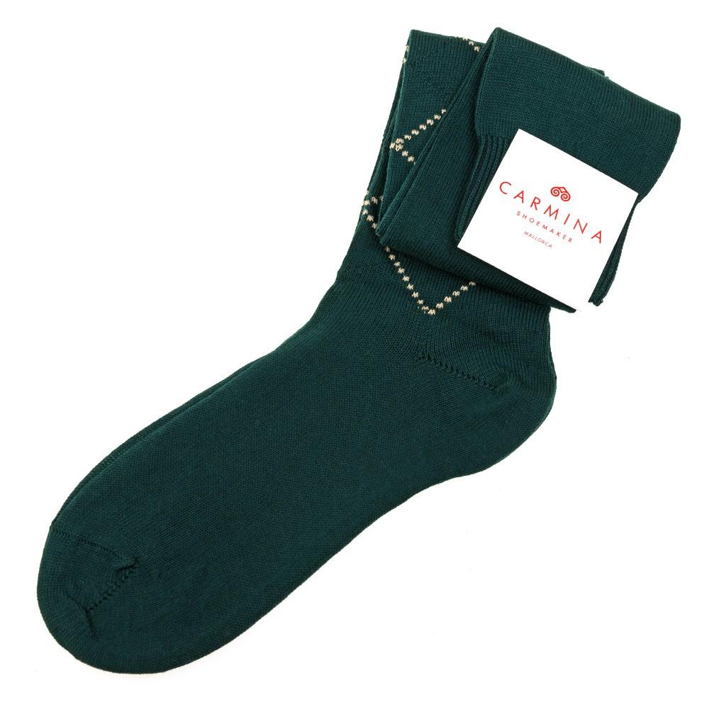Long green diamond Socks