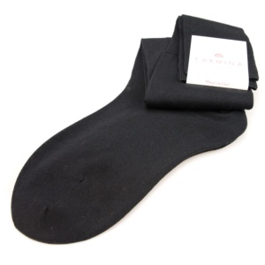 Long socks in anthracite