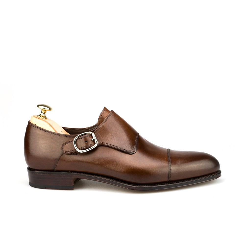 Monk strap shoes in brown