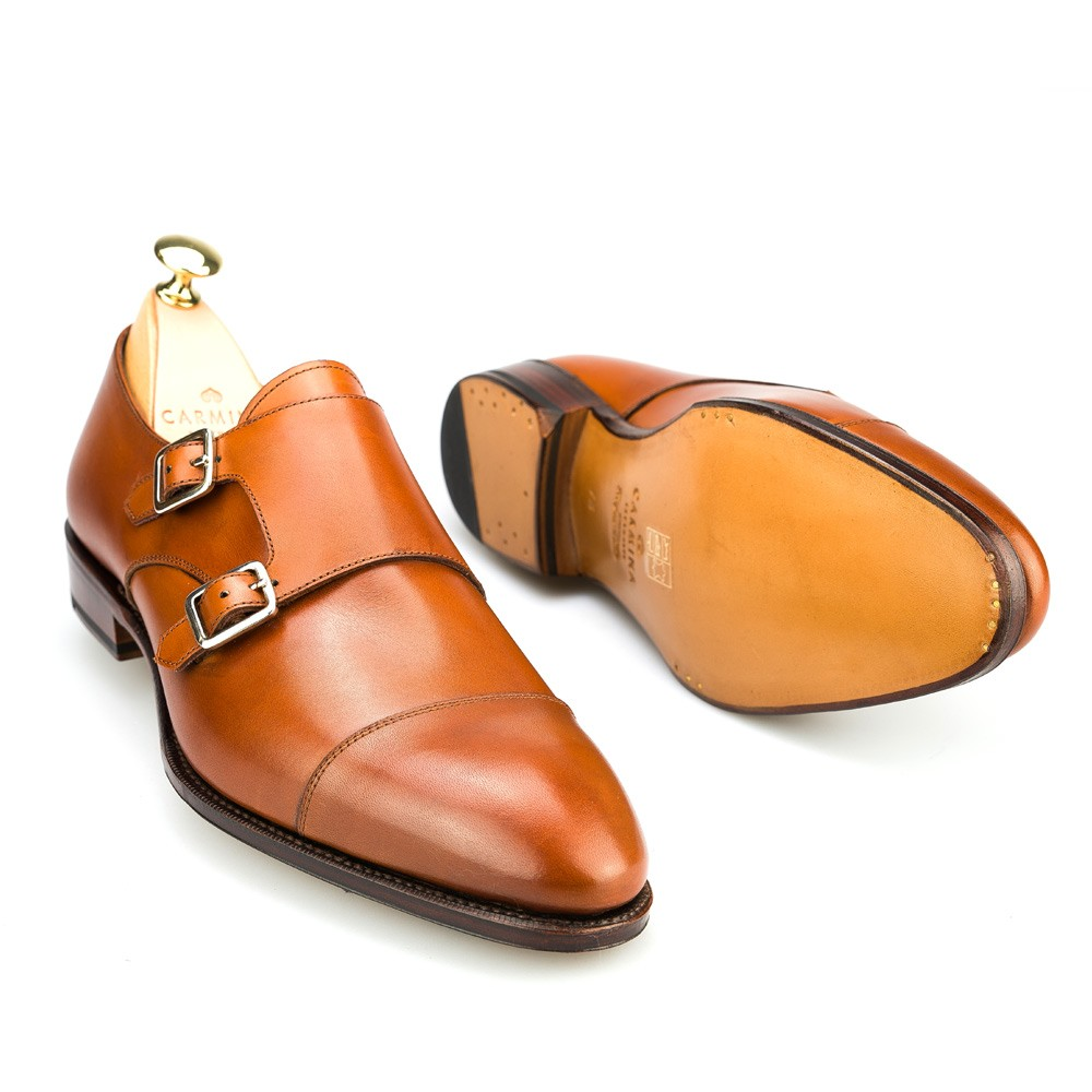 Men's double monk straps shoes