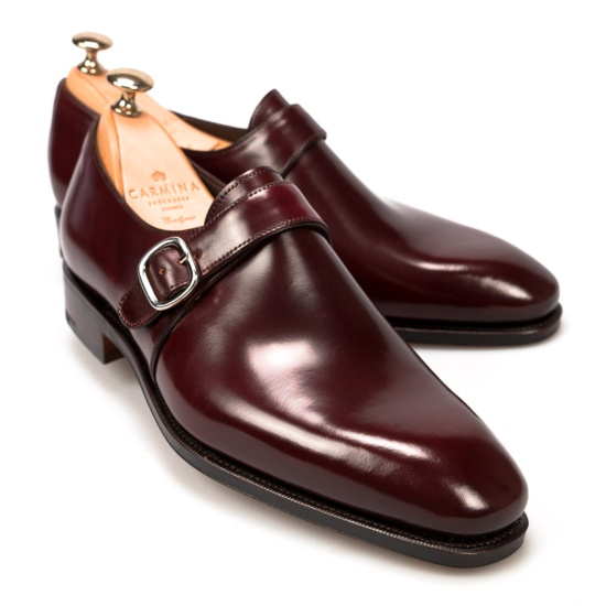 Burgundy Cordovan Leather Double Monk Straps Carmina Shoemaker Free Shipping Cheapest Free Shipping Cheap Real Genuine Cheap Price Buy Cheap Lowest Price xlLn9x5H