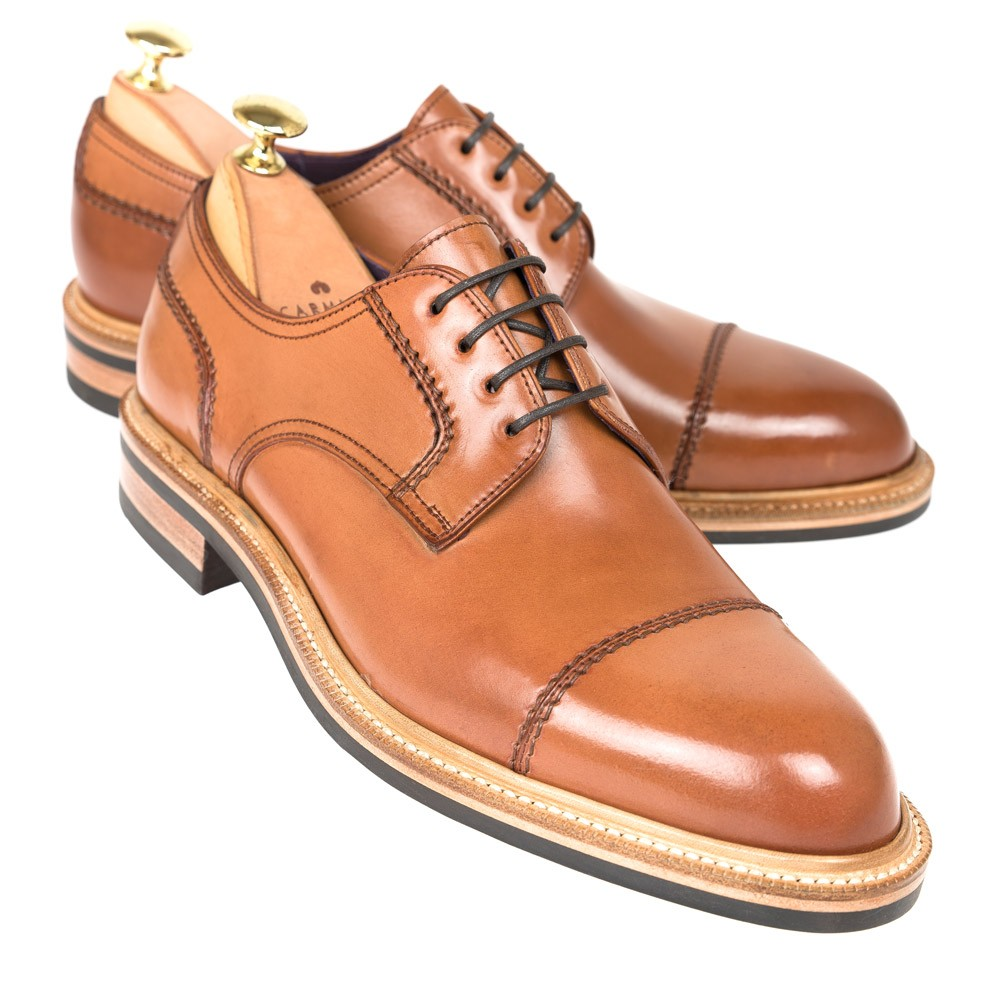 CORDOVAN FRANKENSTITCH DERBY 80152 FOREST (Inc. Shoe trees)