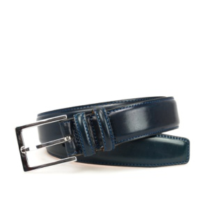 NAVY CORDOVAN BELT