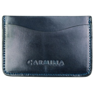 CORDOVAN CARD HOLDER IN NAVY