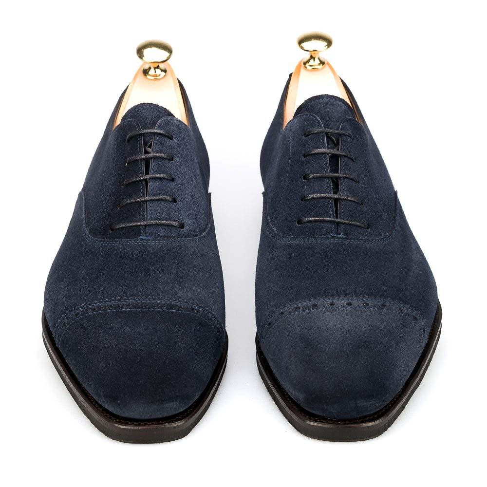 zapatos oxford puntera recta para hombre en ante