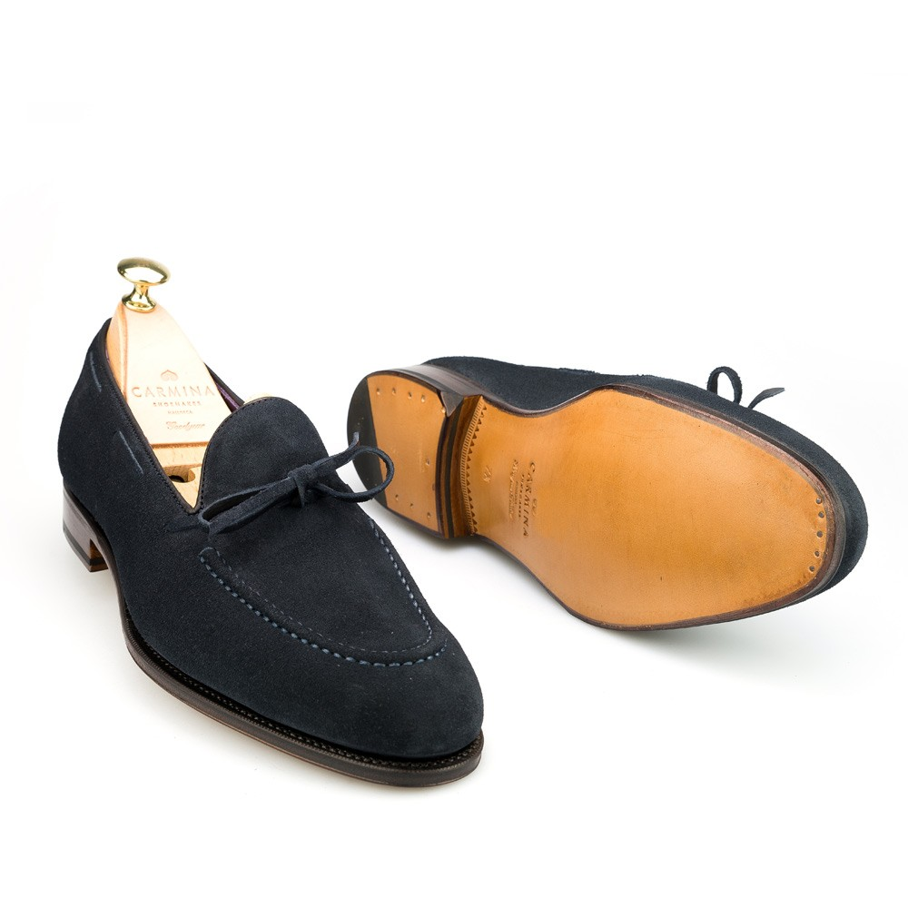 String suede loafers
