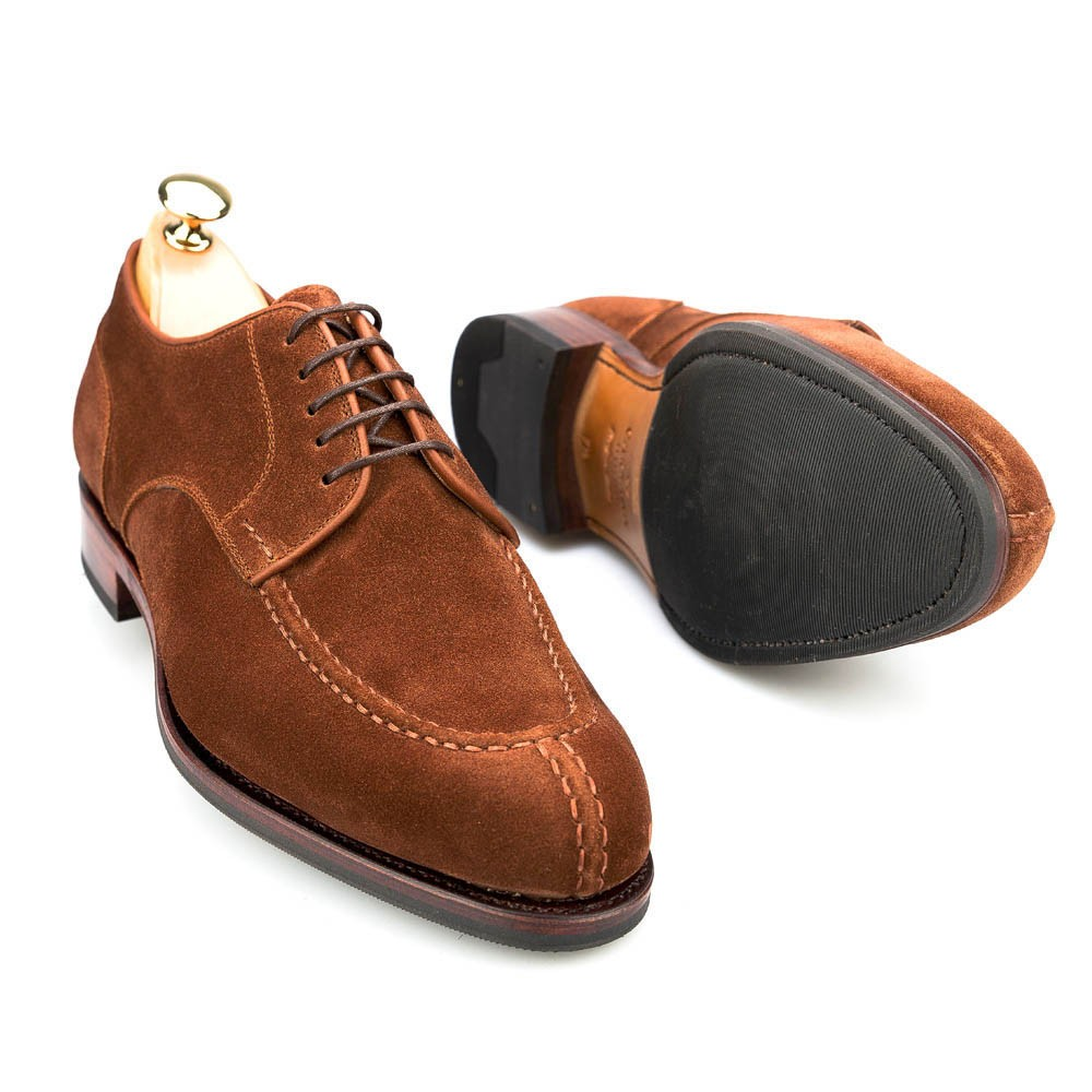 DERBY SHOES IN POLO SUEDE CARMINA 80414