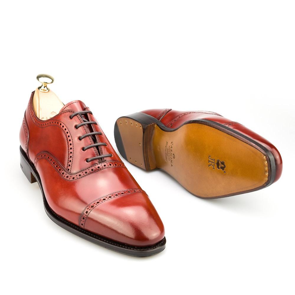 zapatos oxford de hombre en cordovan rubi