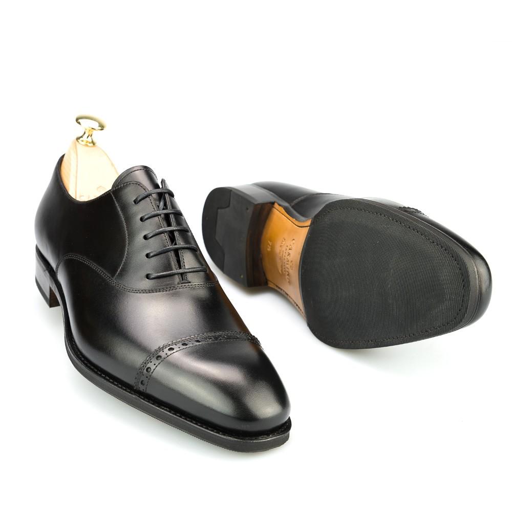 zapato oxford puntera recta negro