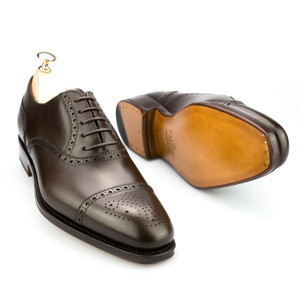 zapatos oxford para hombre en marrón