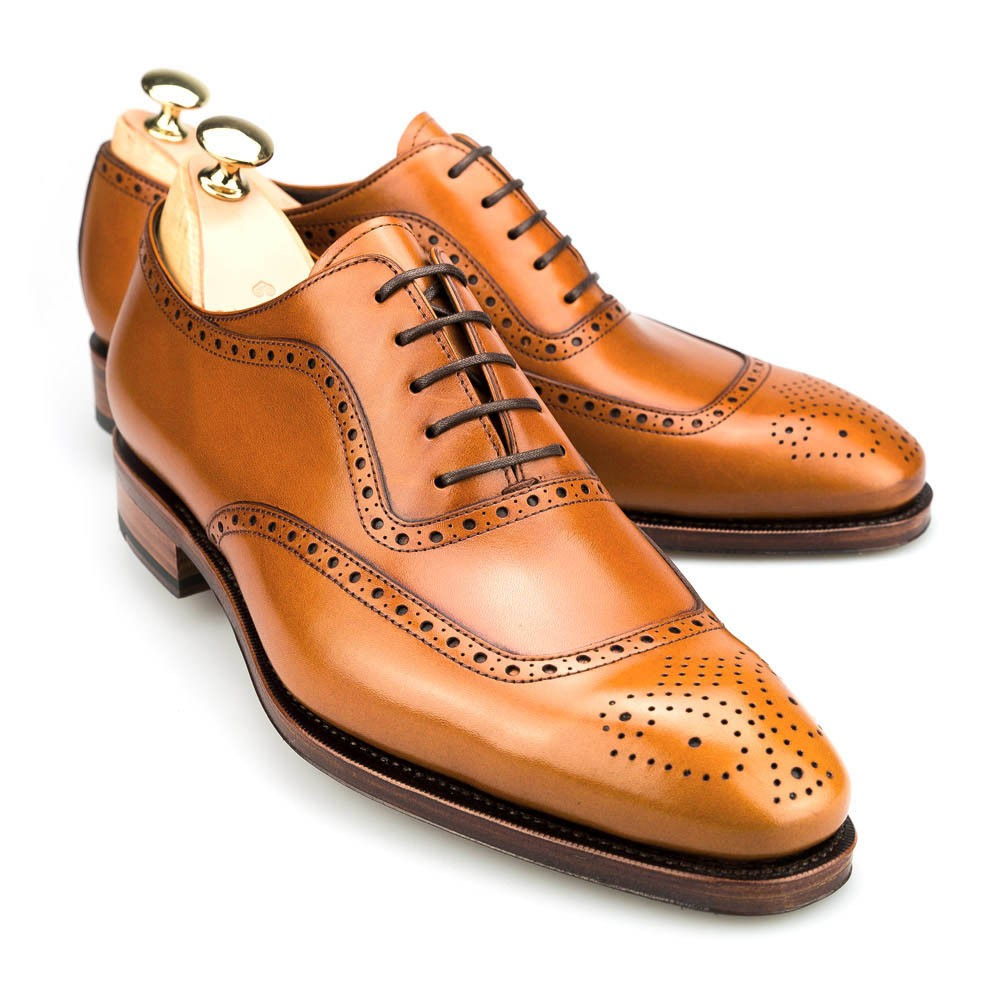 brogue adelaide in tanned vegano carmina