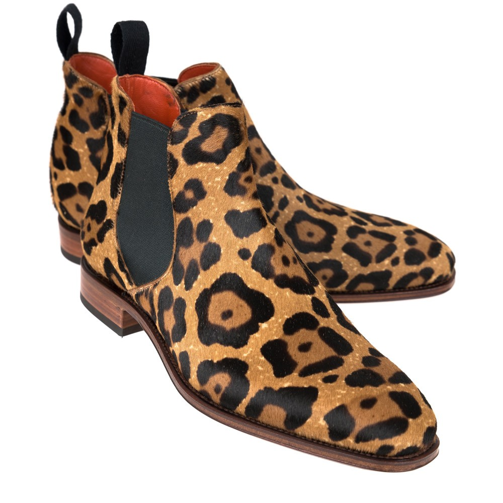 2663f556ed80 PONY LEOPARD CHELSEA BOOTS 1208 HILLS