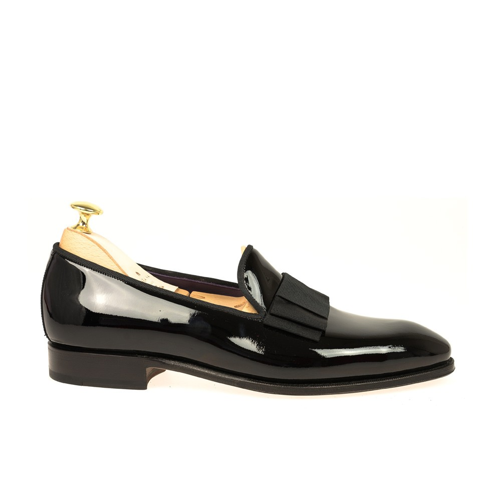 BLACK PATENT SLIPPERS 80445 UETAM