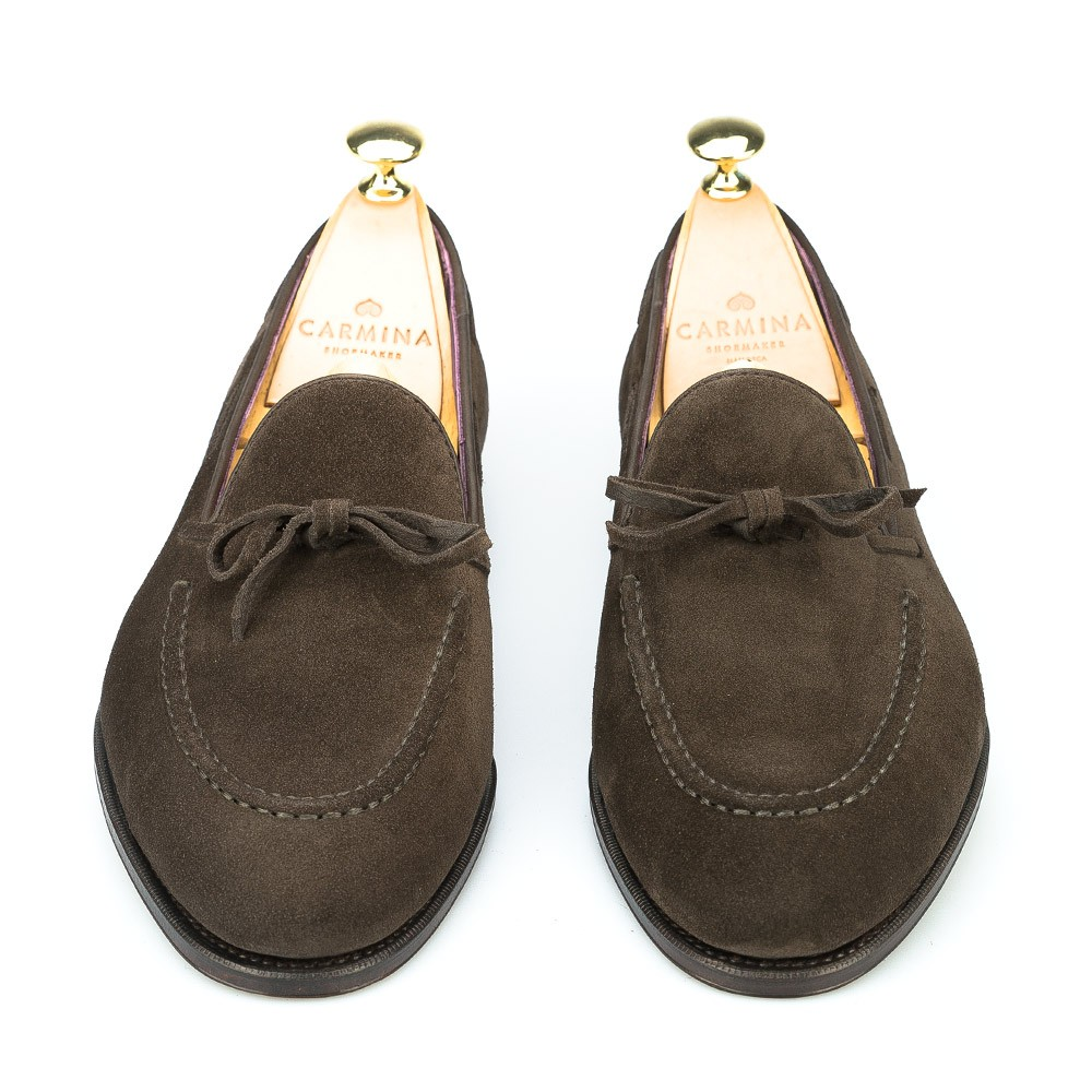Carmina loafers in brown suede