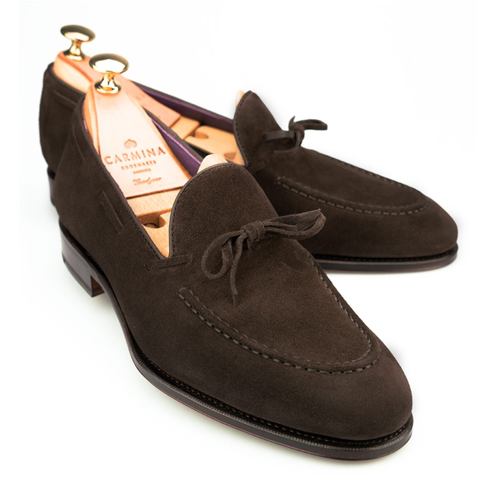 BROWN STRING LOAFERS 80228 UETAM
