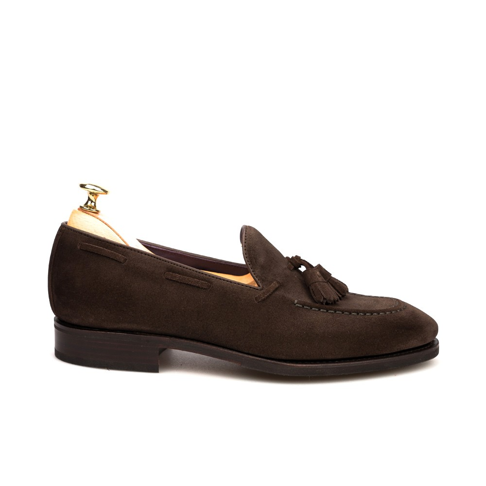 Tassel Loafers In Brown Suede Carmina