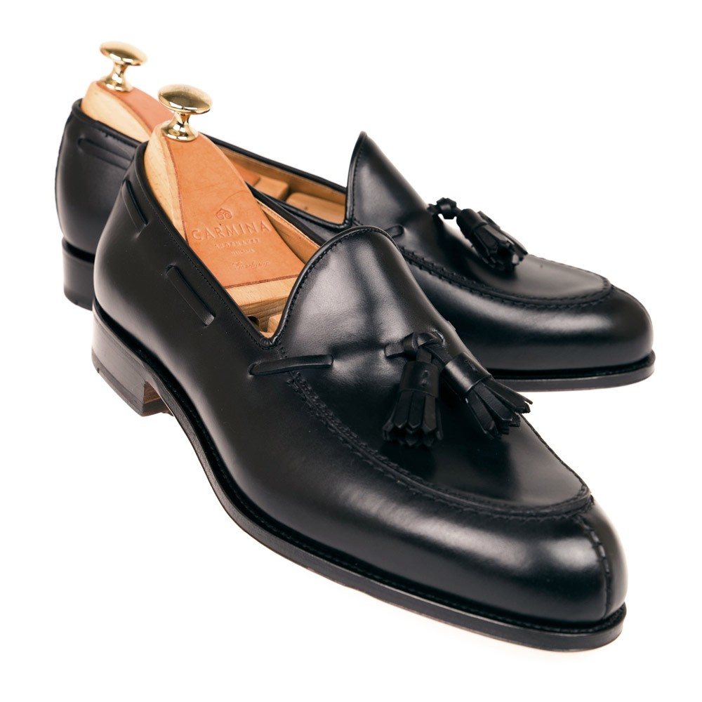 BLACK TASSEL LOAFERS 734 FOREST EEE