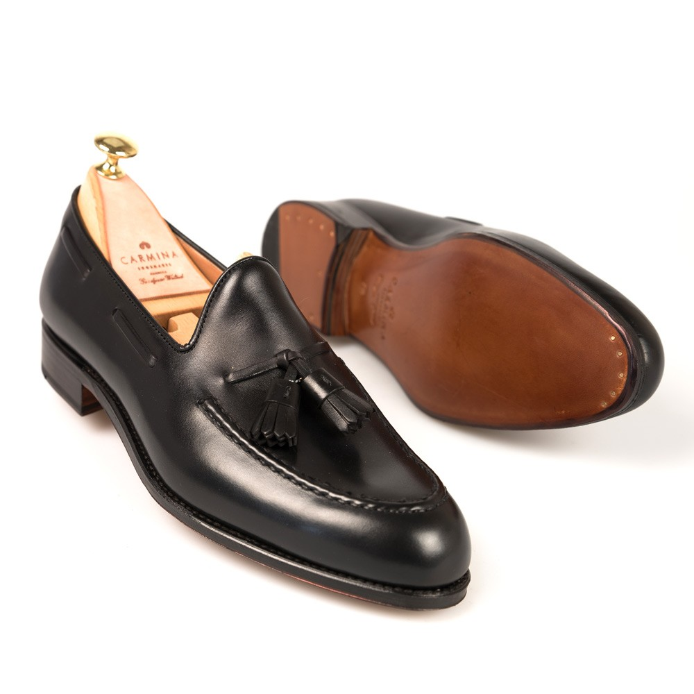 04652df6d7 Black Calf Dress Loafers | CARMINA Shoemaker